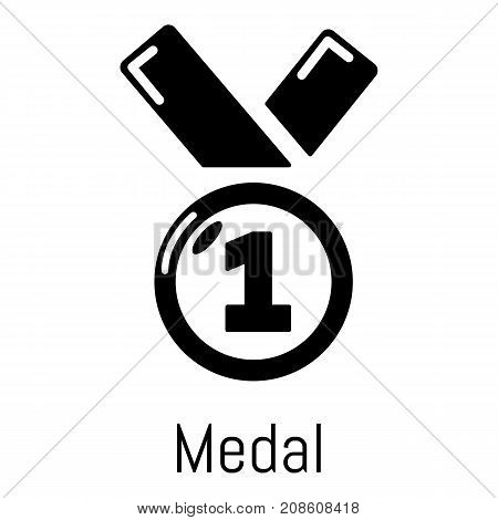 Medal icon. Simple illustration of medal vector icon for web