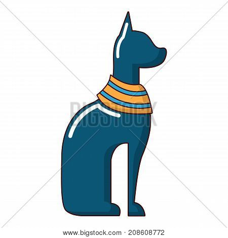 Cat egypt icon. Cartoon illustration of cat egypt vector icon for web