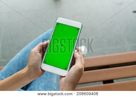 Cellphone with chroma key
