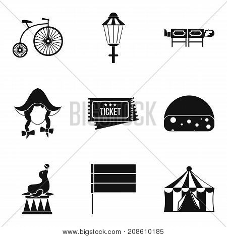Bicycle show icons set. Simple set of 9 bicycle show vector icons for web isolated on white background