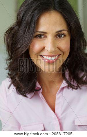 Portrait of a beautiful confident hispanic w.oman smiling
