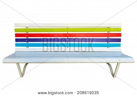 Colorful Wooden Bench Isolated