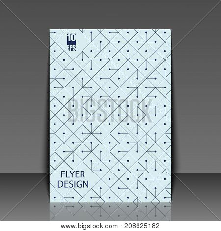 Abstract Modern Background With Rhombus. Template Flyer With Abstract Background. Eps10 Vector Illus