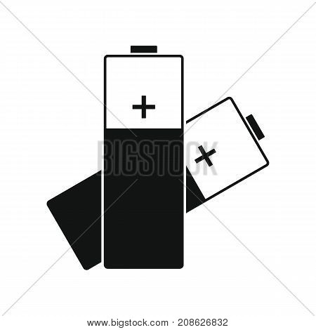 Battery icon. Silhouette illustration of Battery vector icon for web isolated on white background