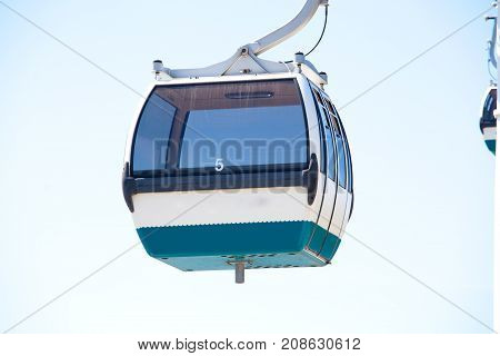 Cableway in National Park in Lisbon Portugal