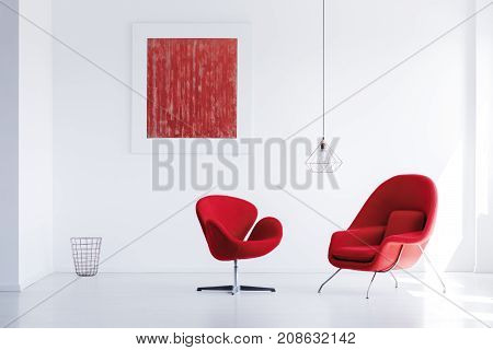 Two Red Armchairs