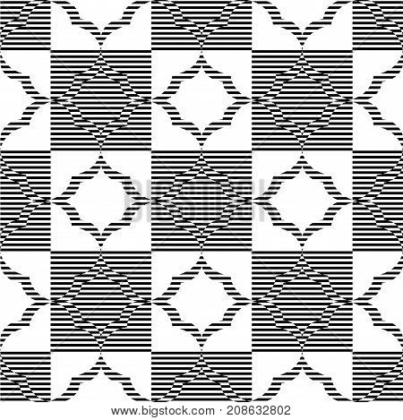 Abstract geometric pattern. A seamless background black and whte texture