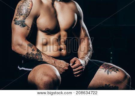 Shirtless Athletic Man