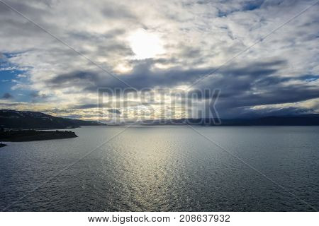 Wellington Bay At Sunset, New Zealand