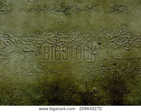 Old dirty mouldy concrete wall grunge background.