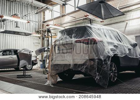 Cars In Auto Service