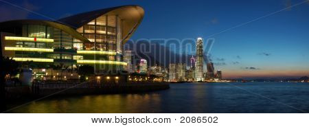 Panorama View Of Hong Kong Cityscape