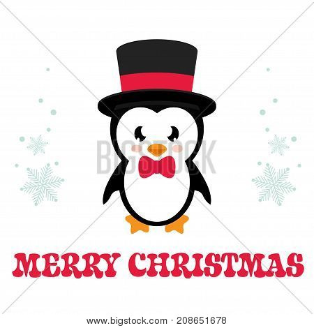 cartoon penguin on a white background vector