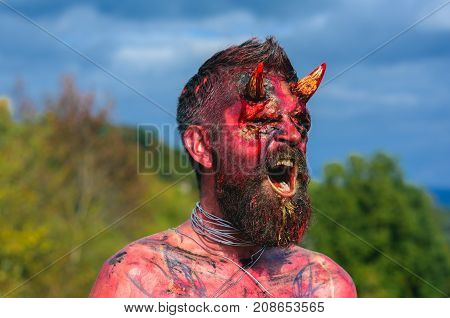 Halloween Temptation, Hell, Evil, Horror Concept