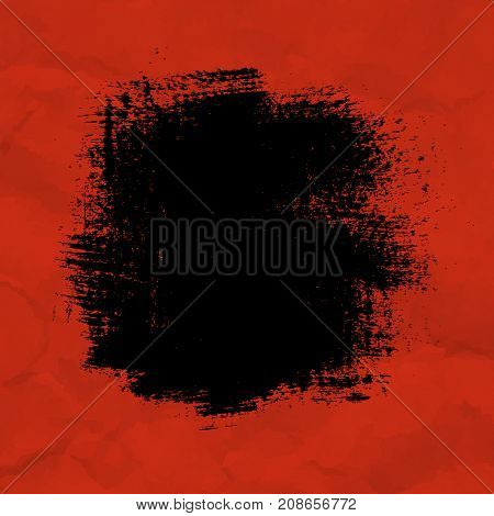 Black Blot With Red Background