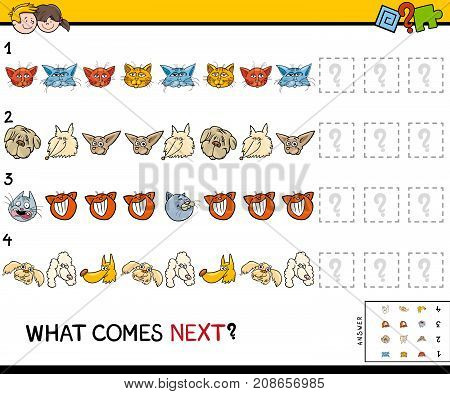 Complete The Pattern With Cats And Dogs