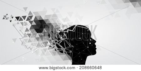 Artificial Intelligence. Technology Web Background. Virtual Concept
