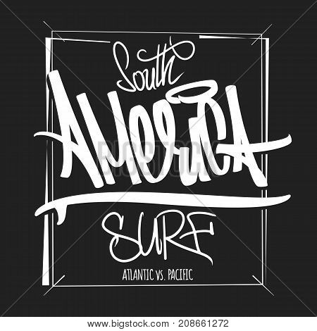 America surfing artwork t-shirt apparel print graphics