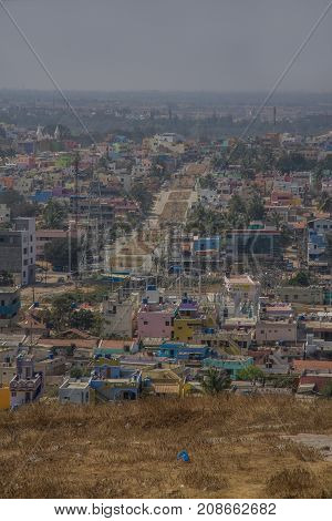 photographic landscape of an Southern Indian town