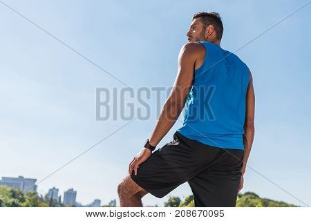 Sportsman With Smart Watch