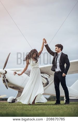 Couple Near Plane