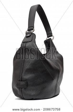 Black women hobo bag isolated on white background