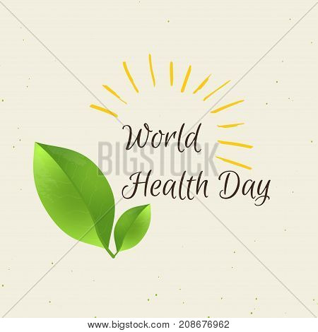 World Health Day Concept With Green Map . Advertisement Of  Heal