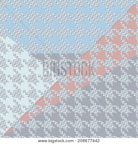 Geometric card vector illustration. Banner postcard art design. Background geometric memphis. Creative design combination of geometry with hand-drawn prints.