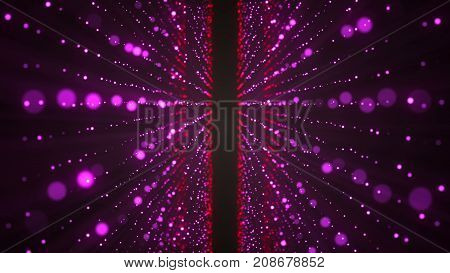 Abstract Glittering Stars. Colorful Elements On Black Background