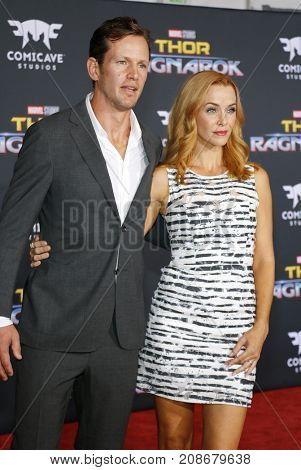 Kip Pardue and Annie Wersching at the World premiere of 'Thor: Ragnarok' held at the El Capitan Theatre in Hollywood, USA on October 10, 2017.