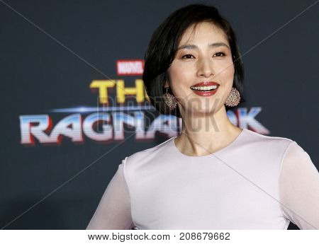 Yuki Amami at the World premiere of 'Thor: Ragnarok' held at the El Capitan Theatre in Hollywood, USA on October 10, 2017.