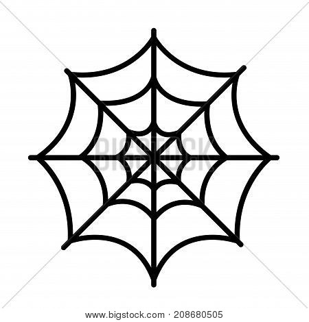 Isolated spider web icon on a white background, Vector illustration