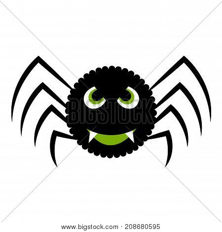 Isolated halloween spider on a white background, Vector illustration