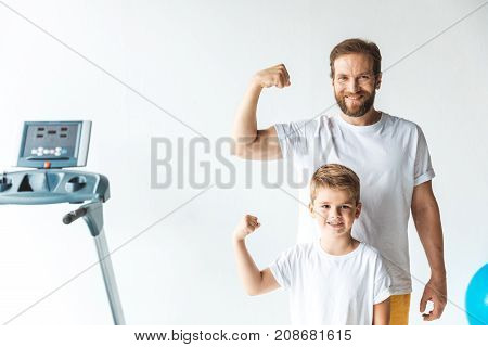Sportive Father And Son
