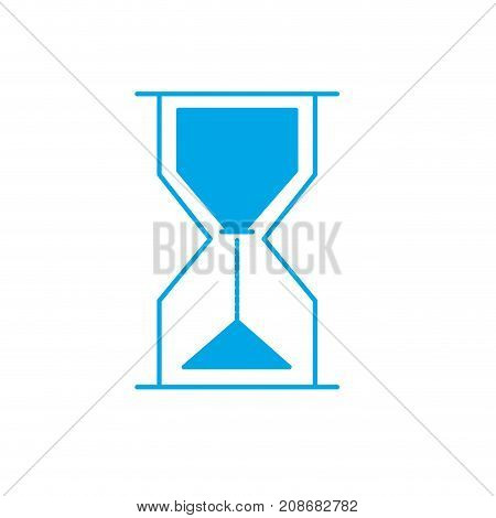 silhouette hourglass object design to know the time vector illustration
