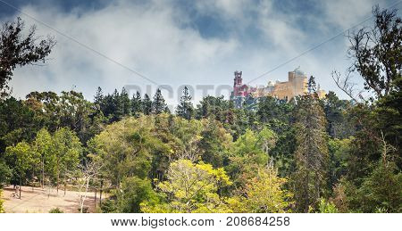 Panoramic Summer Landscape With Pena Palace