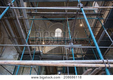 Restoration Of The Interior Of The Mosque Bibi Khanym