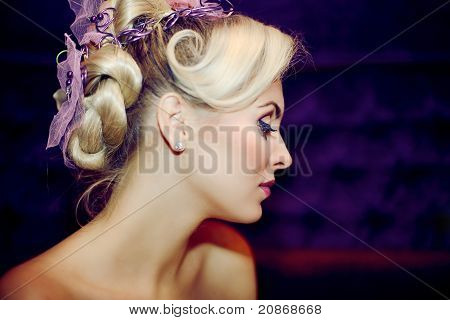 Beautiful Girl With A Wedding Hairdo