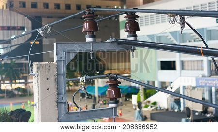 The system for the electric transmission line in Bangkok City of Thailand.