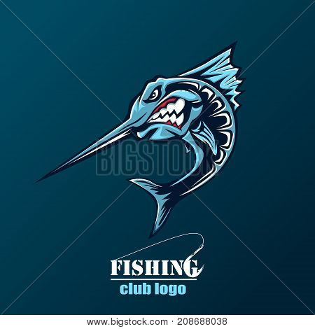 Angry Marlin Logo Color