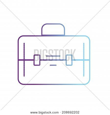 line elegant briefcase to save business documents vector illustration