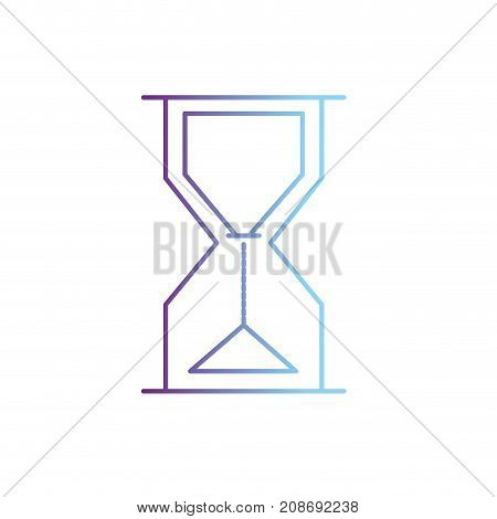 line hourglass object design to know the time vector illustration