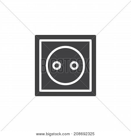 Plugging icon vector, filled flat sign, solid pictogram isolated on white. Power socket symbol, logo illustration.