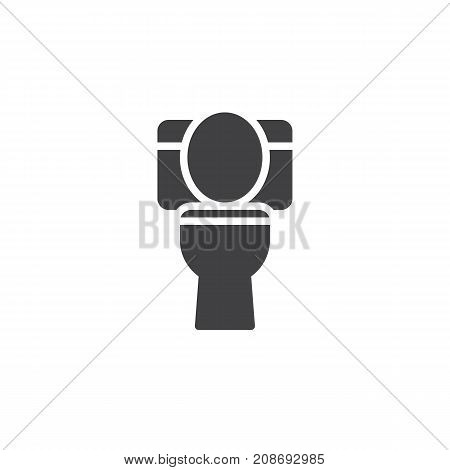 Toilet bowl icon vector, filled flat sign, solid pictogram isolated on white. WC symbol, logo illustration.