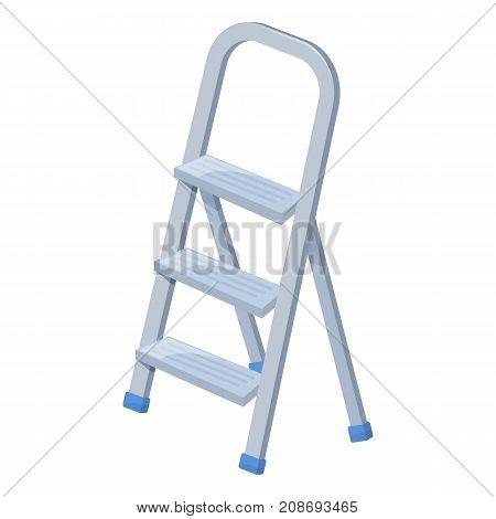 Stepladder on white background cartoon illustration of repair tool. Vector