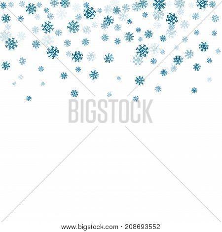 Snowflake Background Blue