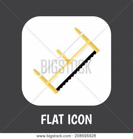 Vector Illustration Of Tools Symbol On Hacksaw Flat Icon
