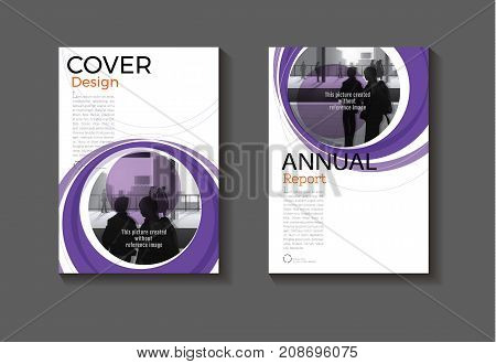 purple modern Circle Yellow cover design modern book cover abstract Brochure cover templateannual report magazine and flyer layout Vector a4