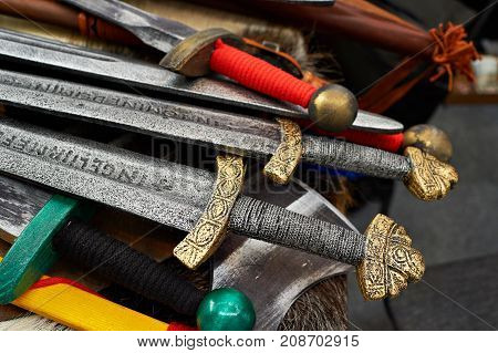 The a swords of the Medieval Knights
