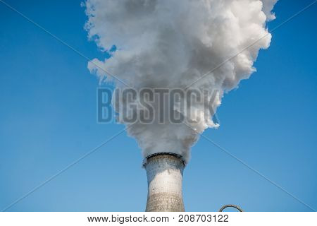 Factory Pipes Smoke. Smoke From Pipes. Nlmk. Production Of Coke. Metallurgy.